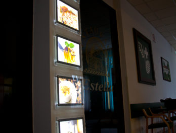 panele led lgp restauracja
