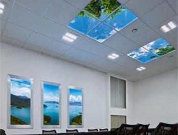 podświetlenie sufitowe LED panel obraz