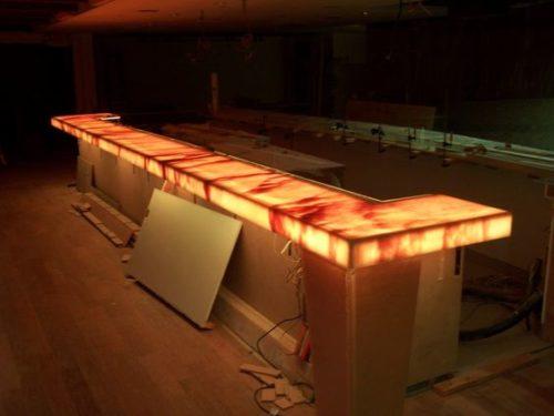 podświetlenie krawędziowe led meble bar