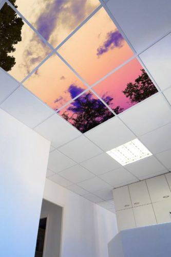 podświetlany sufit led lumisheet crystal panel